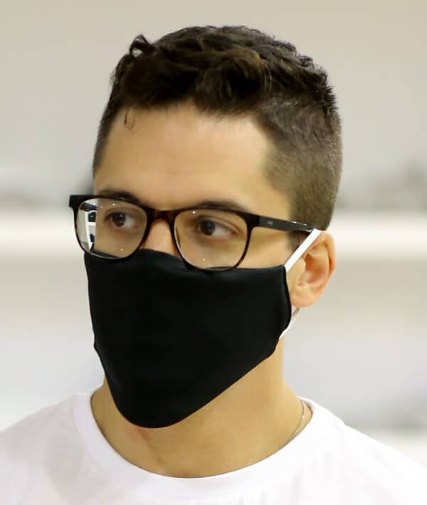 Black Fabric Face Mask